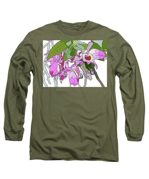 Pink Orchid Bunch Long Sleeve T-Shirt by Jamie Downs