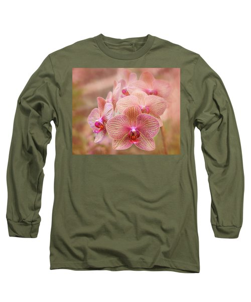 Pink Orchids Long Sleeve T-Shirt
