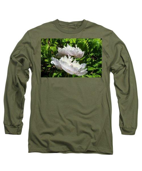 Pink Peony Long Sleeve T-Shirt by Tamara Sushko