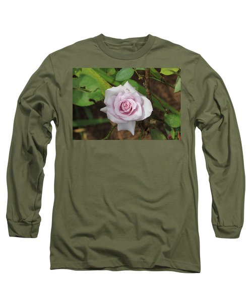 Long Sleeve T-Shirt featuring the photograph Pink Rose by Jerry Battle