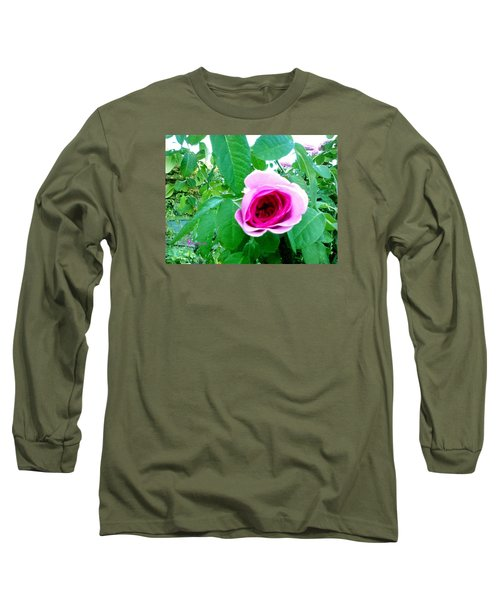 Long Sleeve T-Shirt featuring the photograph Pink Rose by Sadie Reneau