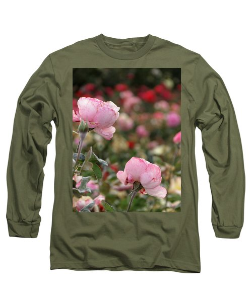 Pink Roses Long Sleeve T-Shirt by Laurel Powell