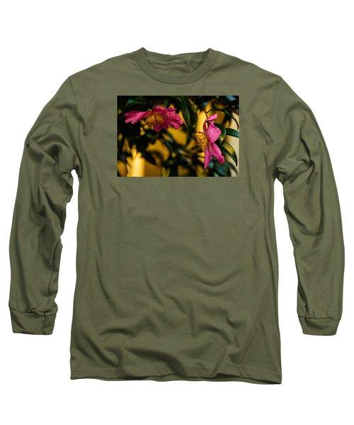 Pink Sasanquas  Long Sleeve T-Shirt