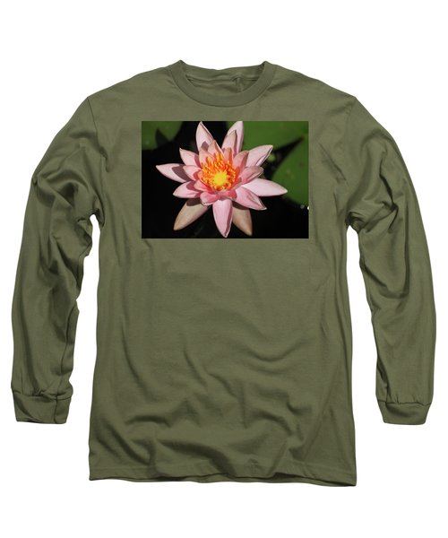 Pink Water Lily 2016 Long Sleeve T-Shirt by Suzanne Gaff