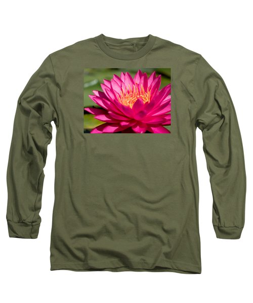 Pink Waterlily Long Sleeve T-Shirt