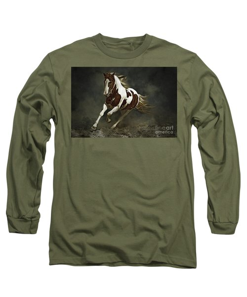 Pinto Horse In Motion Long Sleeve T-Shirt