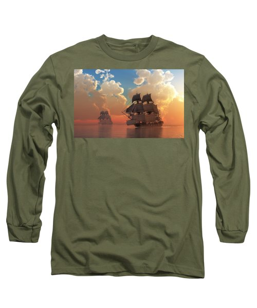 Pirate Sunset Long Sleeve T-Shirt