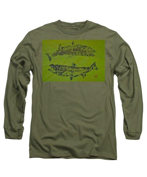 Pisces Rising  Steelhead Salmon Long Sleeve T-Shirt