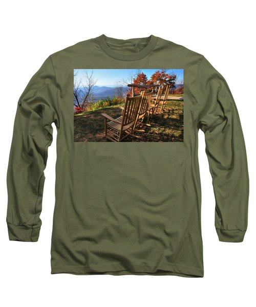 Pisgah Inn's Rocking Chairs Long Sleeve T-Shirt