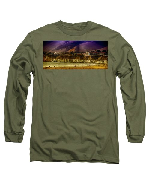 Long Sleeve T-Shirt featuring the photograph Pismo Beach Cove by Joseph Hollingsworth