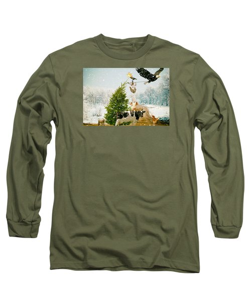 Placing Your Star Long Sleeve T-Shirt by James Bethanis