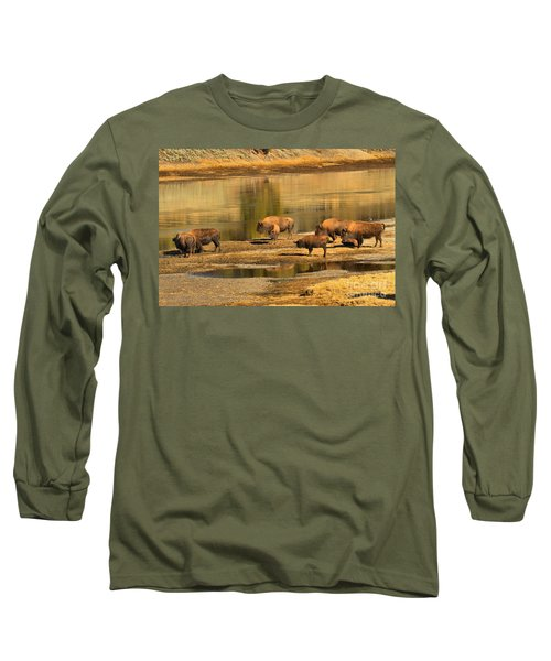 Long Sleeve T-Shirt featuring the photograph Planning To Cross by Adam Jewell
