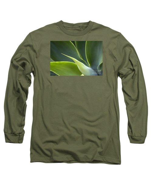 Plant Abstract Long Sleeve T-Shirt by Tony Cordoza