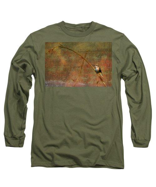 Plate 225 - Hummingbird Grunge Series Long Sleeve T-Shirt