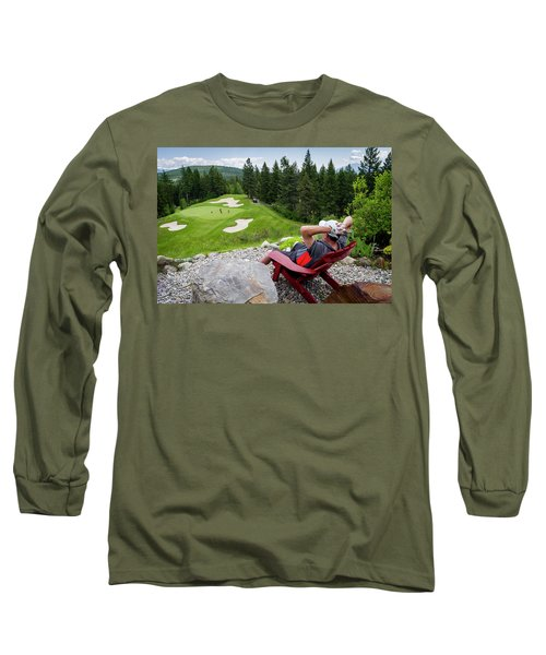 Long Sleeve T-Shirt featuring the photograph Play Through Or Enjoy The View by Darcy Michaelchuk