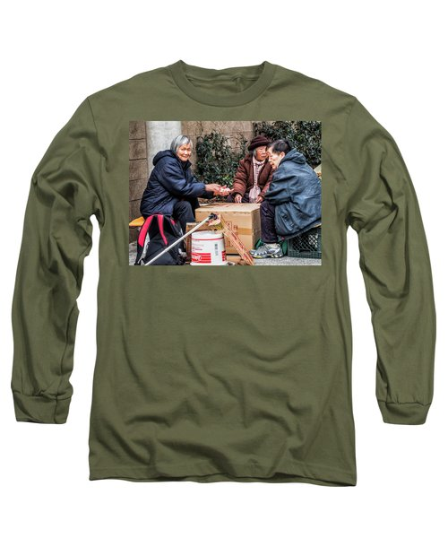 Playing Cards In Chinatown Long Sleeve T-Shirt