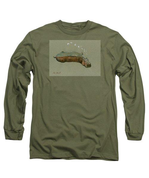 Playing Hippo Long Sleeve T-Shirt