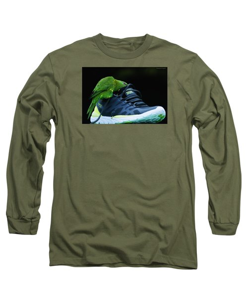 Long Sleeve T-Shirt featuring the photograph Playing With Dads Shoe 01 by Kevin Chippindall