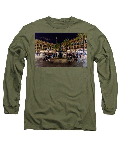 Plaza Reial Long Sleeve T-Shirt by Randy Scherkenbach