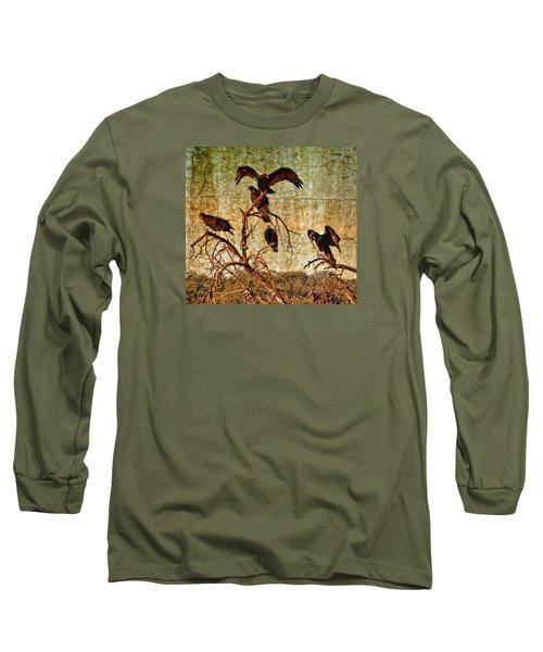 Long Sleeve T-Shirt featuring the photograph Pleasanton Vultures by Steve Siri