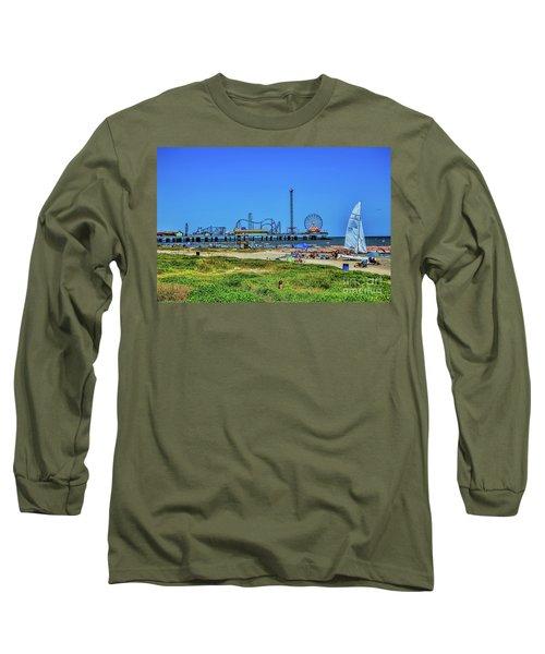 Pleasure Pier Sunny Day Long Sleeve T-Shirt