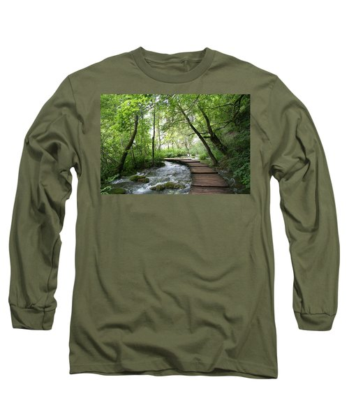 Long Sleeve T-Shirt featuring the photograph Plitvice Lakes National Park by Travel Pics