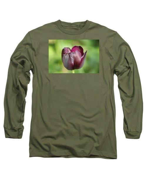Plum Tulip Long Sleeve T-Shirt