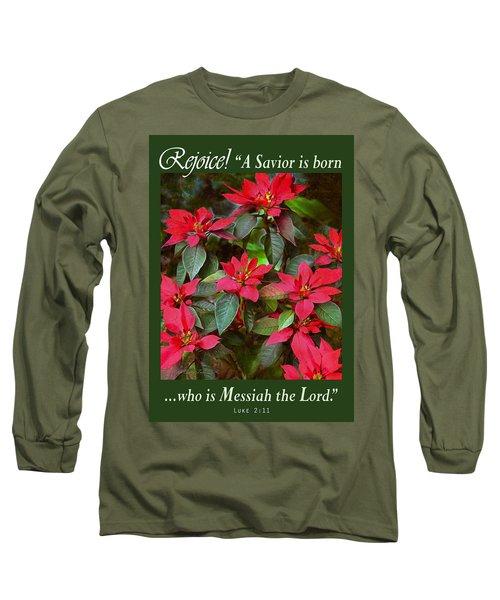 Poinsettia Christmas Long Sleeve T-Shirt