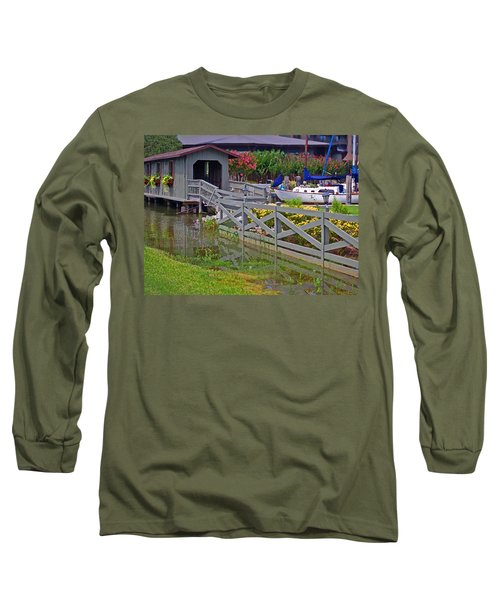 Point Clear Bridge At Grand Hotel Long Sleeve T-Shirt