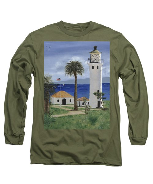 Point Vicente Lighthouse Long Sleeve T-Shirt by Jamie Frier