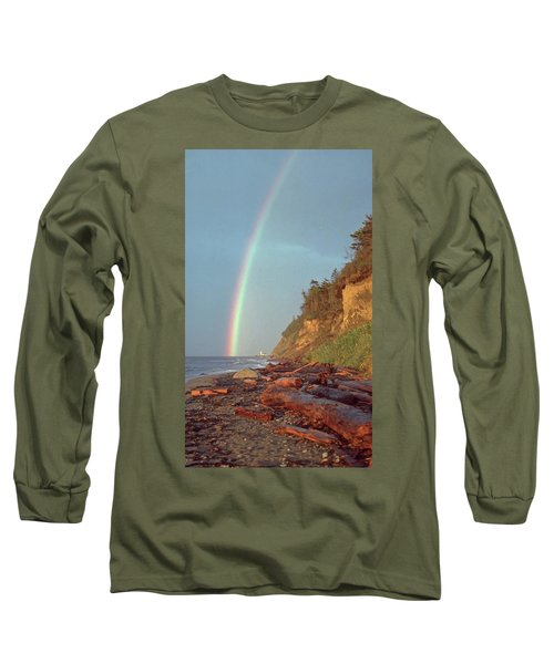 Long Sleeve T-Shirt featuring the photograph Point Wilson by Laurie Stewart