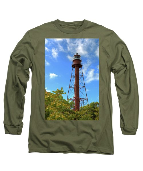 Long Sleeve T-Shirt featuring the digital art Point Ybel Lighthouse by Sharon Batdorf