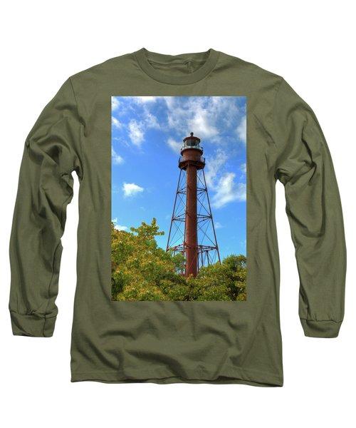 Point Ybel Lighthouse Long Sleeve T-Shirt by Sharon Batdorf