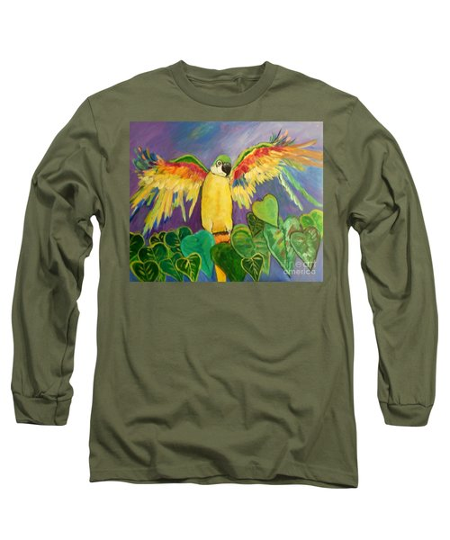 Polly Wants More Than A Cracker Long Sleeve T-Shirt by Rosemary Aubut