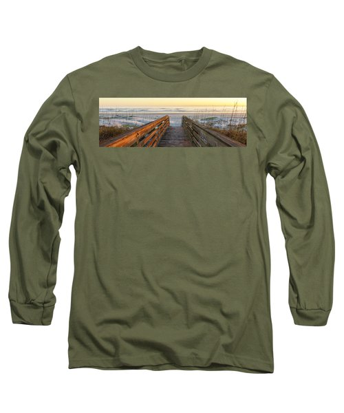 Ponce De Leon Inlet Beach Path Long Sleeve T-Shirt