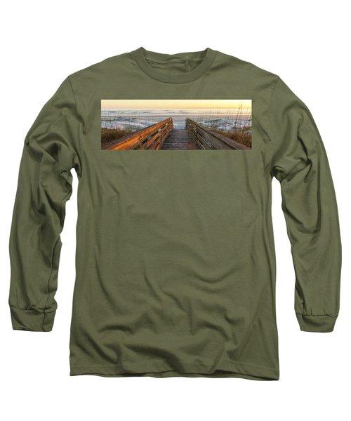 Ponce De Leon Inlet Beach Path Long Sleeve T-Shirt