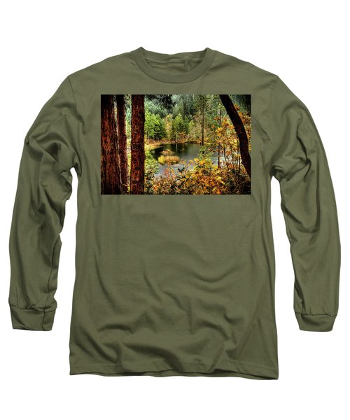Pond At Golden Or. Long Sleeve T-Shirt