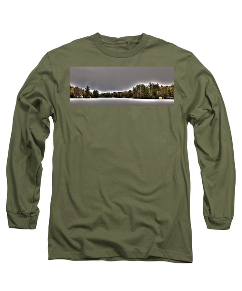 Pond Panorama Long Sleeve T-Shirt by David Patterson