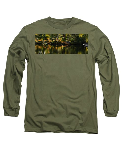 Long Sleeve T-Shirt featuring the photograph Pond Reflections by Katie Wing Vigil