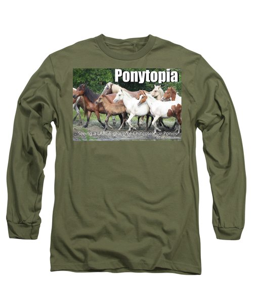Ponytopia Saying Long Sleeve T-Shirt