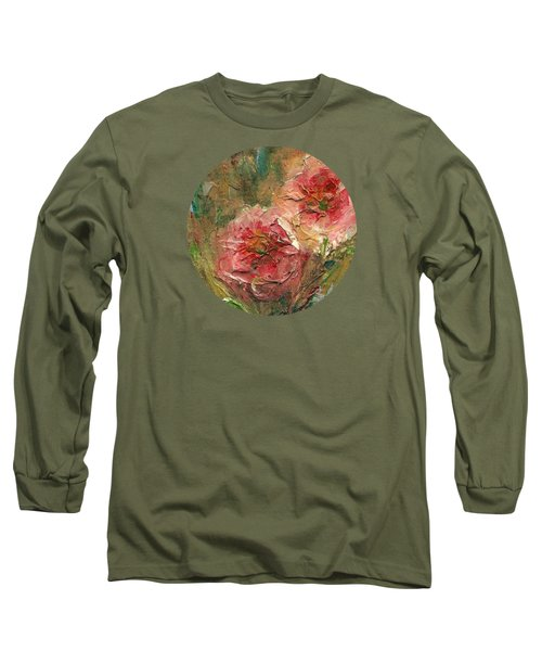 Poppies Long Sleeve T-Shirt by Mary Wolf