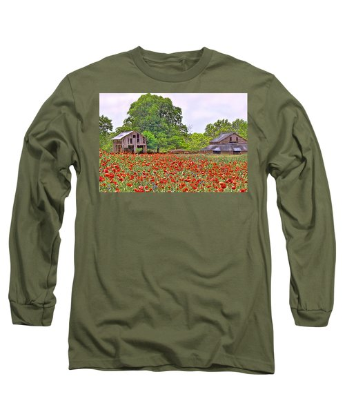 Poppies On The Farm Long Sleeve T-Shirt