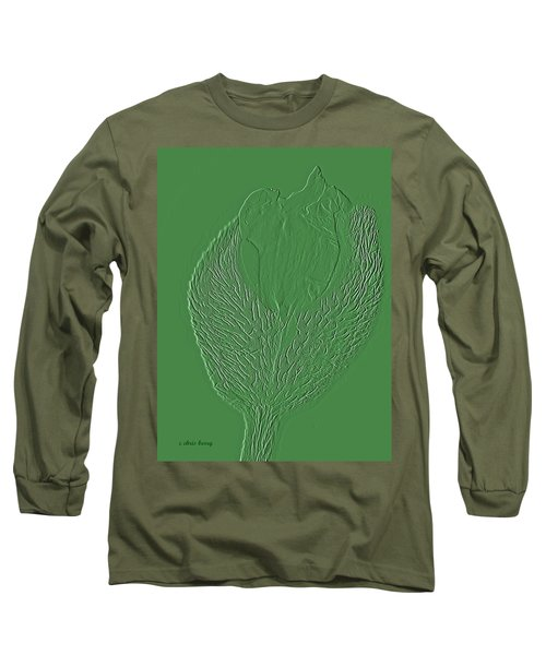 Poppy Embossing  Long Sleeve T-Shirt by Chris Berry