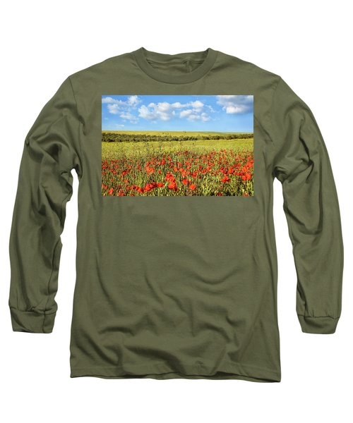 Long Sleeve T-Shirt featuring the photograph Poppy Fields by Marion McCristall