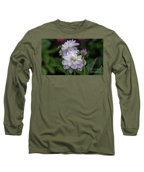 Porcelain Dahlias Long Sleeve T-Shirt
