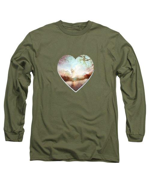 Porcelain Skies Long Sleeve T-Shirt by Valerie Anne Kelly