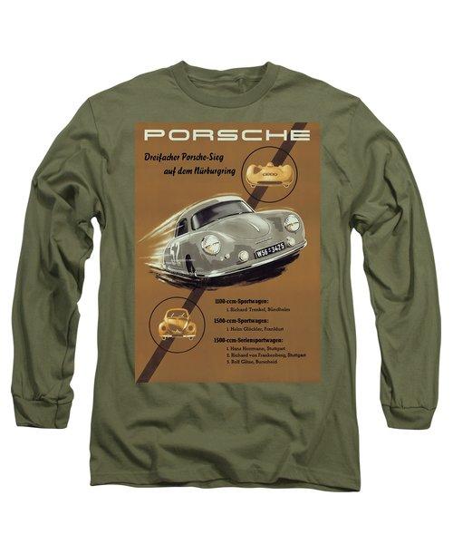 Porsche Nurburgring 1950s Vintage Poster Long Sleeve T-Shirt