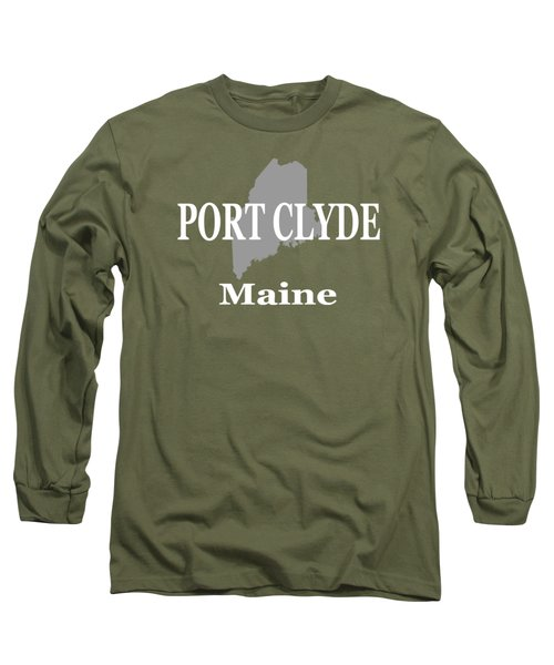 Port Clyde Maine State City And Town Pride  Long Sleeve T-Shirt