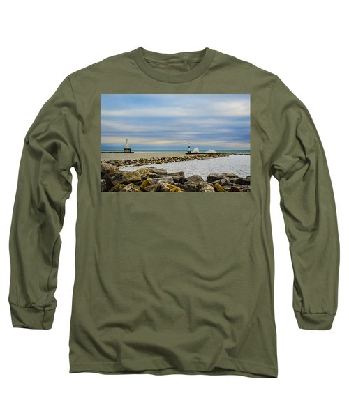 Long Sleeve T-Shirt featuring the photograph Port Washington Light 6 by Deborah Smolinske
