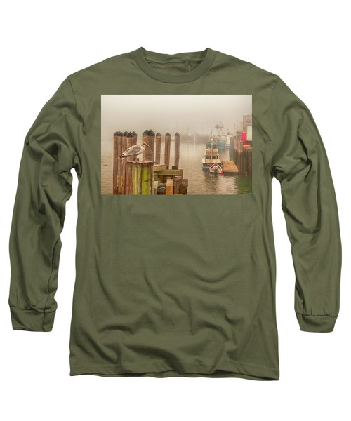 Portland Harbor Morning Long Sleeve T-Shirt